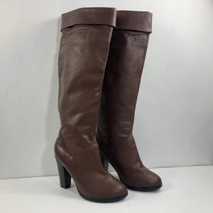 Colin Stuart Brown Leather Tall Knee High Boot 6.5